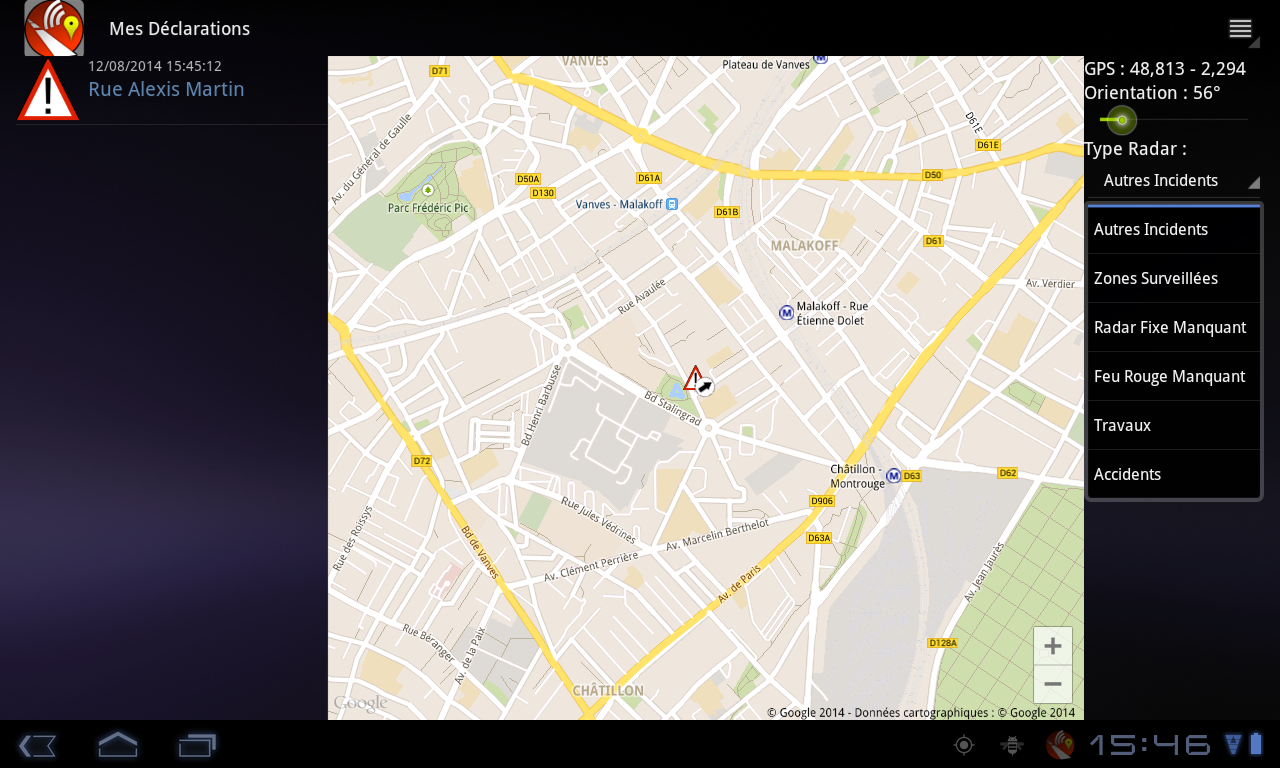Traffic, Radars & GPS - Glob - screenshot