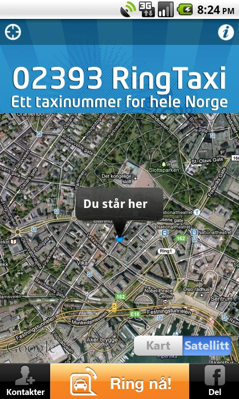 RingTaxi Norge - screenshot