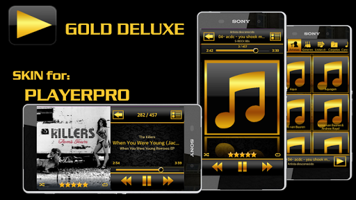 PlayerPro Skin GOLD DELUXE