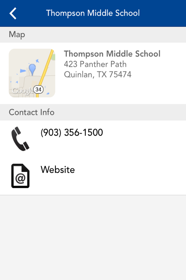 Quinlan ISD- screenshot