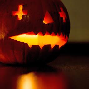 Pumpkin man by Brian Miller - Public Holidays Halloween ( canon, lantern, pumpkin, light, halloween,  )