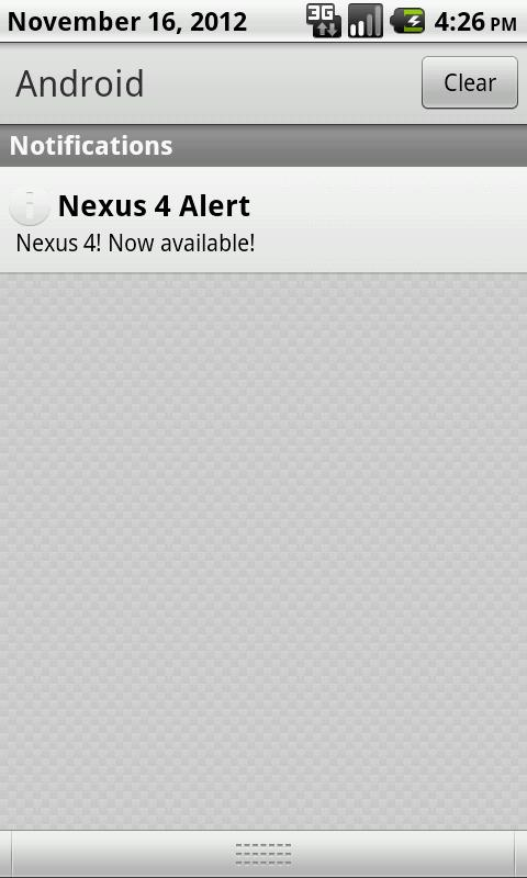 Nexus 6 Stock Alert - screenshot