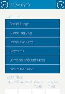 Gym Navigator Worklog- screenshot thumbnail