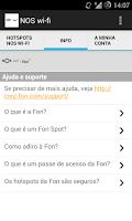 Screenshot of NOS wi-fi