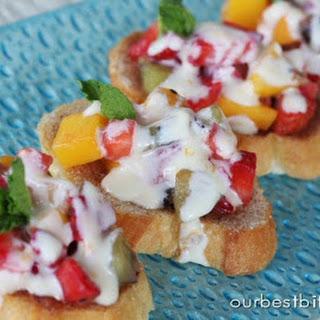Fresh Fruit Bruschetta with Orange-Honey Cream Recipe