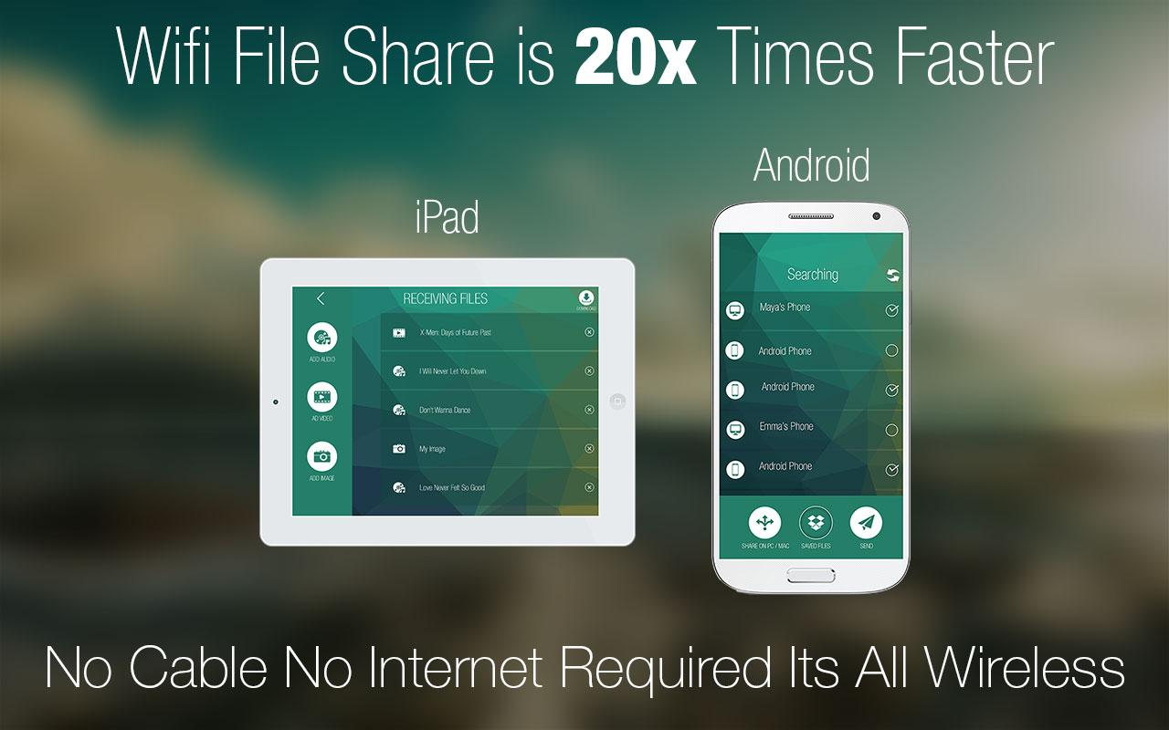 WiFi File Share Pro with iOS- screenshot