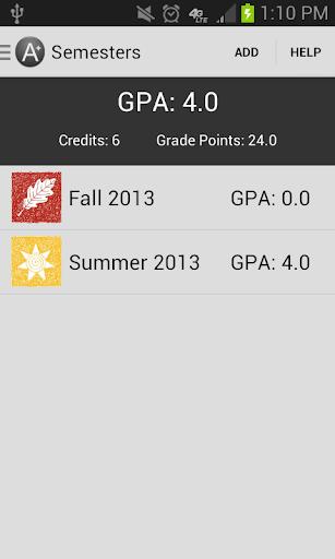 Degree Planner: GPA Calculator