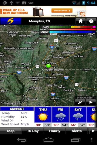 Action News 5 Memphis Weather - screenshot