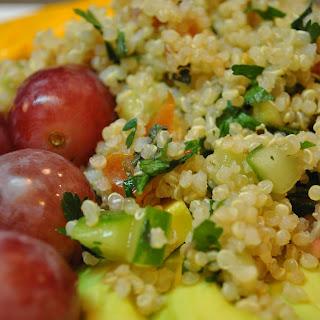Simplest Quinoa Tabbouleh Salad.