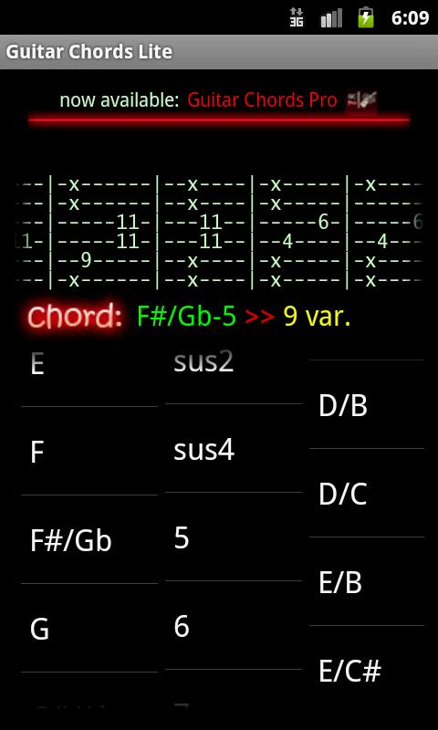Guitar Chords Lite - screenshot