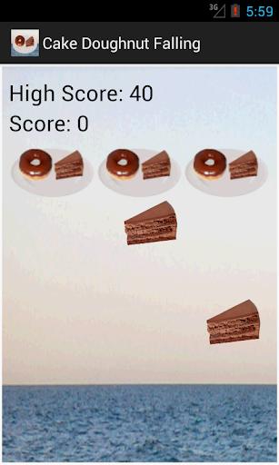 Cake Doughnut Falling Game