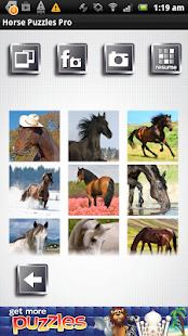 FREE Horse Puzzles- screenshot thumbnail