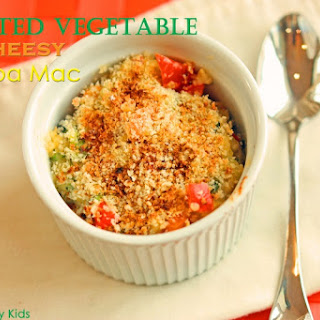 Roasted Vegetable Cheesy Quinoa Mac