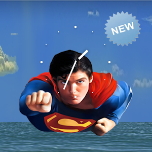 Superman Sky Live Wallpaper 個人化 LOGO-玩APPs