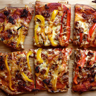 Spicy Sausage and Sweet Pepper Pizza.