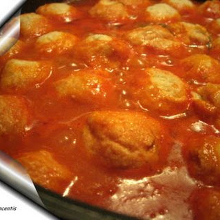 Stewed Ricotta Cheese Dumplings.