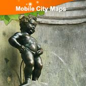 Brussels, Bruxelles Street Map