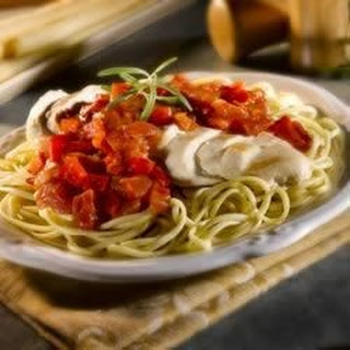 Chicken Fettuccine with Roasted Red Pepper Sauce