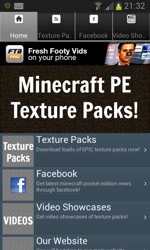 Texture Packs For Minecraft PE - screenshot