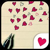 Cute wallpaper★Drawing Heart