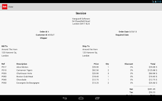 Screenshot of Sales Manager
