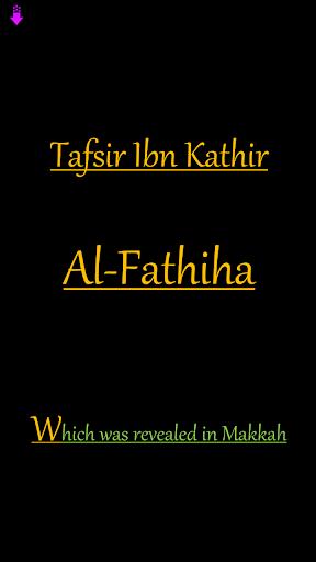Tafsir Al Fatiha by Ibn Kaseer