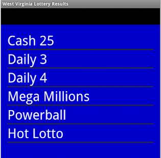 Download West Virginia Lottery Results Apk 1 0,org