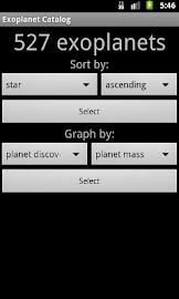 Exoplanet Catalog Screenshot 1