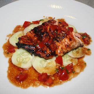 Hoisin BBQ Salmon with Asian Vinaigrette