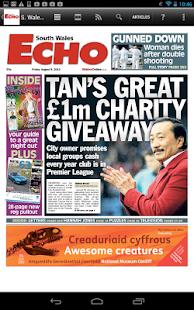 South Wales Echo Newspaper - screenshot thumbnail