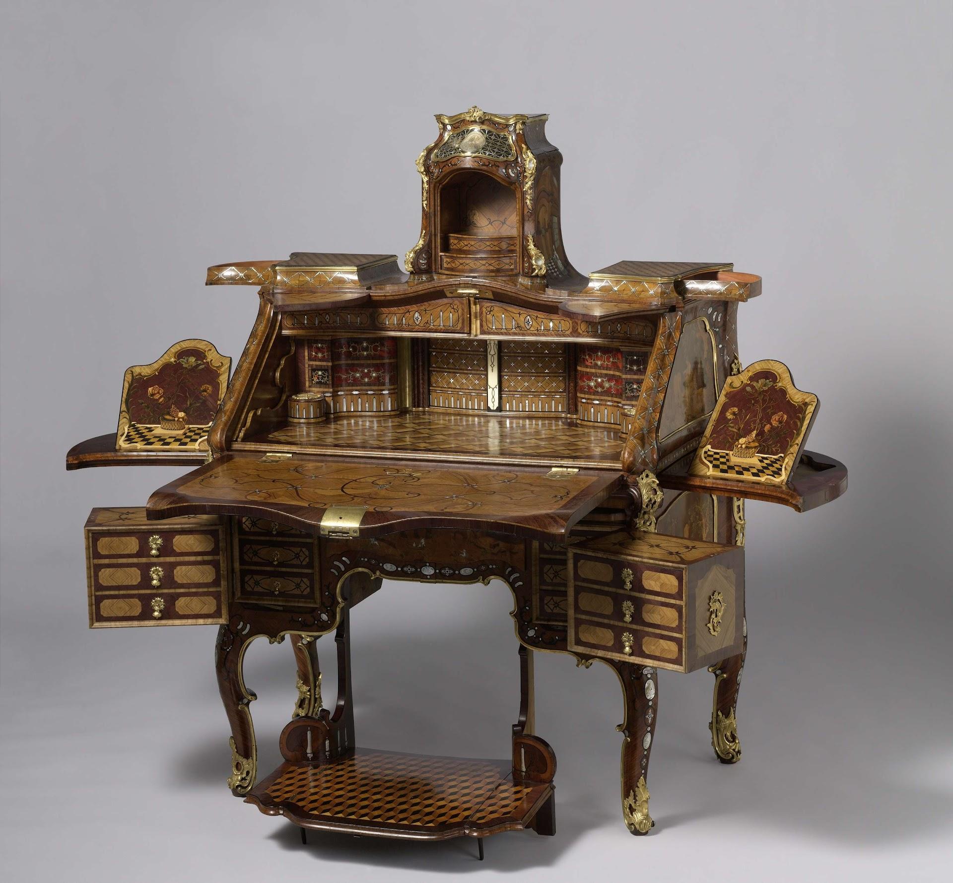 Desk Abraham Roentgen C 1758 C 1760 Rijksmuseum