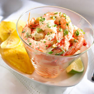 Creamy Asian Shrimp Ceviche.