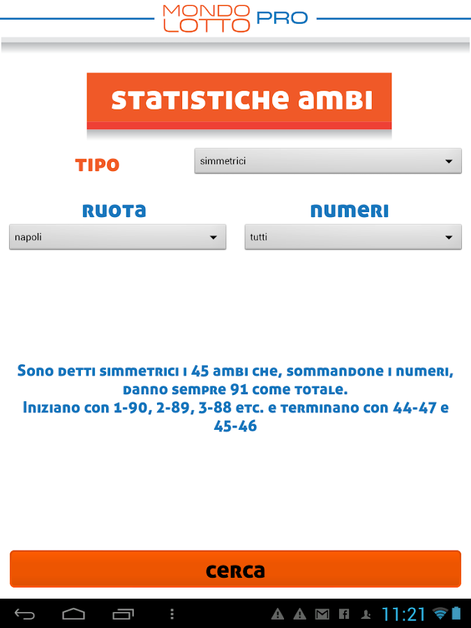 Mondo Lotto Pro - screenshot