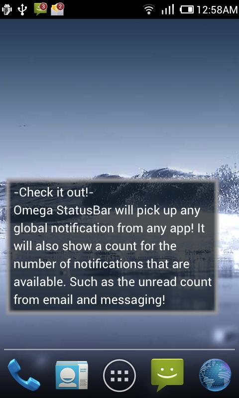 Omega StatusBar Pro- screenshot