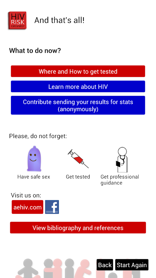 HIV RISK Calculator - screenshot