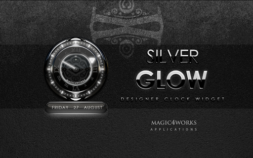 Silver Glow Magic Clock Widget