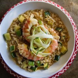 Shrimp and Zucchini Risotto.