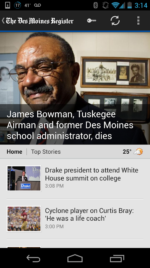 Des Moines Register - screenshot
