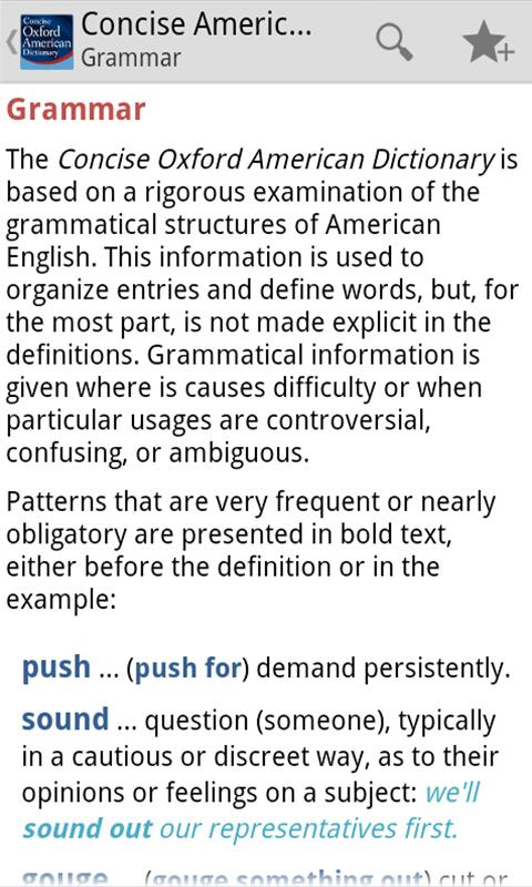 Concise Oxford American Dict - screenshot