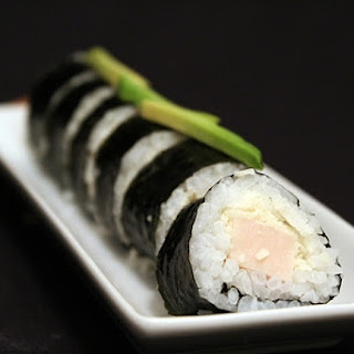 Ham and Parmesan Cheese Sushi.
