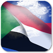 3D Sudan Flag Live Wallpaper +