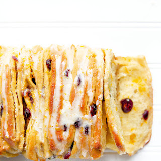 Cranberry Orange Pull Apart Bread