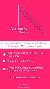 Arrayies Magenta CM12/11 theme v1.0