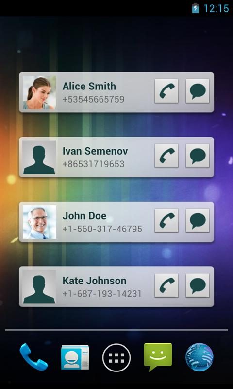 Quick Contacts- screenshot