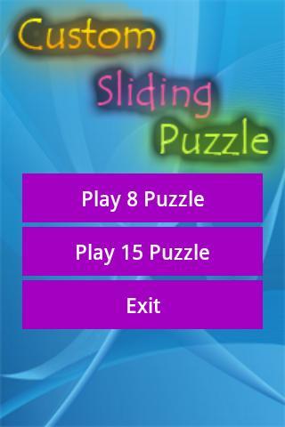Custom Sliding Puzzle
