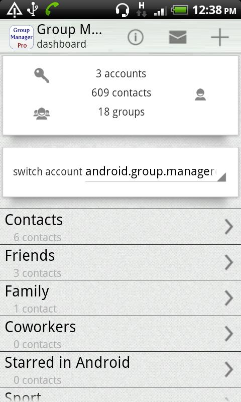 Group Contact  Manager- screenshot