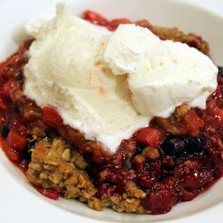 Berry Rhubarb Crisp