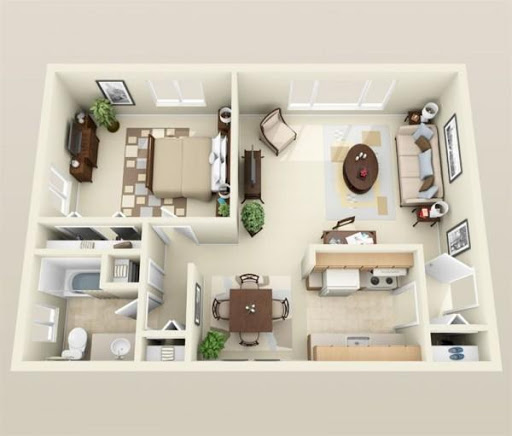 Floor Plan Design 1 Bedroom