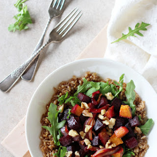 Farro Meal Bowls with Roasted Beets.