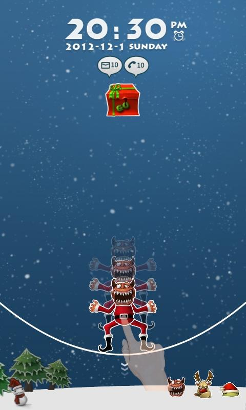 SnowMonster GO Locker Theme - screenshot